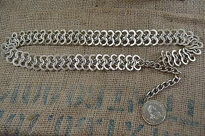 VINTAGE elaborate gold metal chain belt 1960s/70s with antique coin medallion