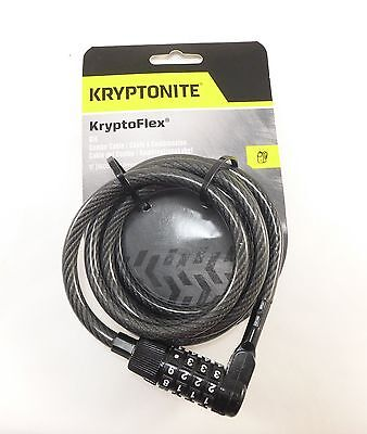 Kryptonite Keyless Re-Settable Combination Cable Lock 4 Digit Moped Scooter Bike