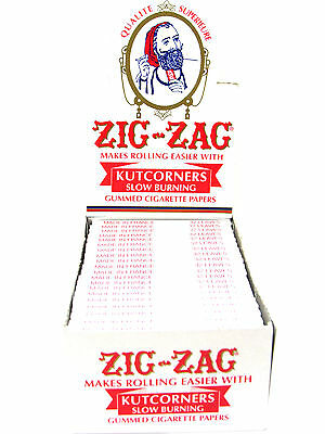 Zig Zag Cigarette Rolling Papers 24 Packs/Box/ 32 Papers Per Pack- Kutcorners