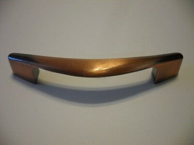 Vintage NOS COPPER Flash Boomerang Drawer or Cabinet Door PULLS Chevron Handles