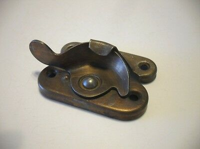 VINTAGE Bronze Plated Steel Window Sash Lock Pre-owned Working Condition!