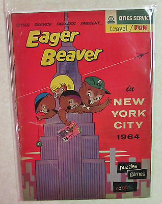 Eager Beaver In New York City 1964 - Cities Service Travel Fun Comic Book Guide