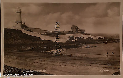INISHOWEN LIGHTHOUSES GREENCASTLE MOVILLE  CO DONEGAL. POSTCARD 1930's IRELAND