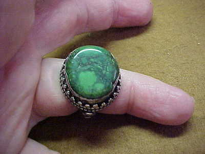 Antique Silver And Jade Chinese Ring