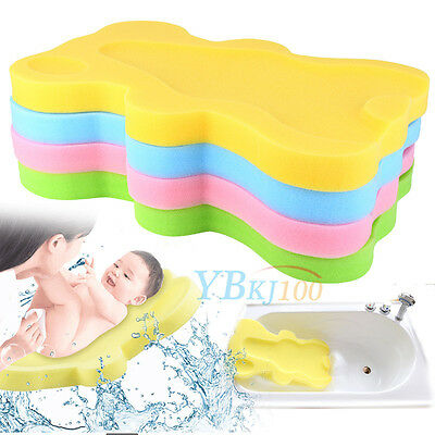 Baby Infant Bath Sponge Support Safety Aid Bathing Foam Comfort Non Slip Cushion