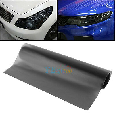 "DIY Scrub Matte Black Car Tail Light Tint Vinyl Film Cover Decal 12"" x 39"""