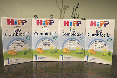 **FREE EXPEDITED SHIP** 4 BOXES HiPP Stage 1 Organic First Infant Milk Combiotic
