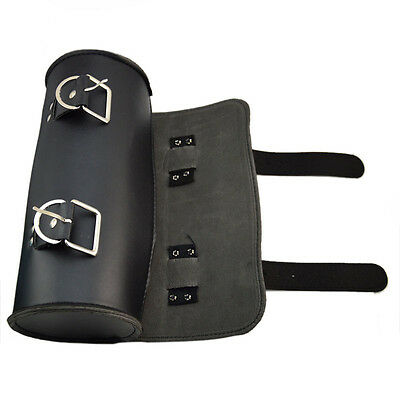 Motorcycle Scooters PU Leather Tool Roll Pouch Saddle Bag Storage