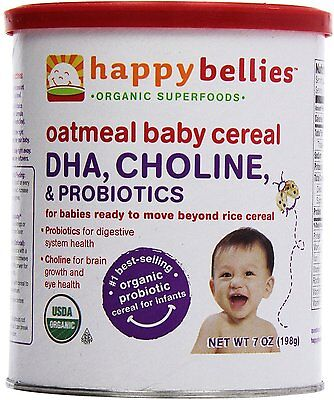Happy Bellies Oatmeal Baby Cereal, Happy Baby, 7 oz