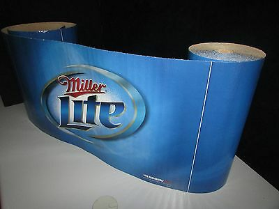 NEW Miller Lite Blue Iconic Decorative Banner Roll Beer Domestic Man Cave Light