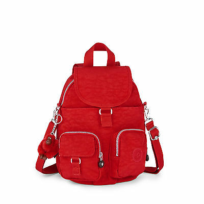 BNWT Kipling  Firefly N Small Backpack VIBRANT RED Fall 2016 RRP £74