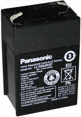 Panasonic LC-R064R5P 6V 4.5Ah Sealed Lead Acid Cyclic Standby UPS Battery New