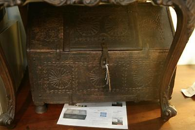 Antique Indian Dowry Chest Box