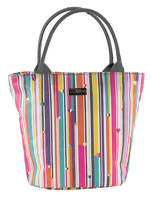 Beau & Elliot Linear Stripe Insulated Lunch Tote Cool Carry Bag Multi Colour New
