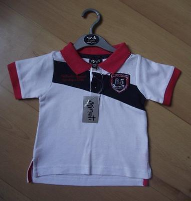 BNWT Baby Boys Clothes 6-24 Months MINOTI Red White Blue Polo Style T-Shirt Top