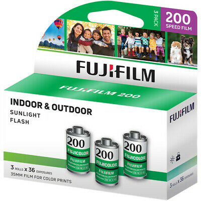3 Rolls Fuji Fujicolor C200 CA ISO 200 36 35mm Color Film, Total 108 Exposure