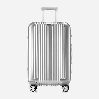 "20"" Lightweight Aluminum-Magnesium Alloy Universal Wheel Travel Luggage Suitcase"