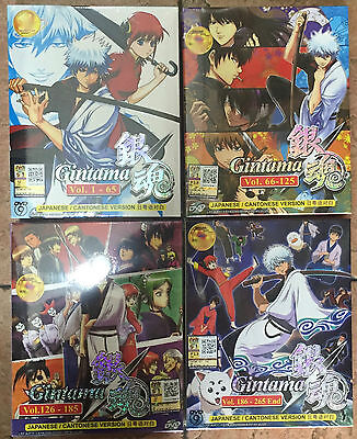 Anime DVD: Gintama (Vol. 1-265) 4 Box COLECTION_Eng Sub_All Region_FREE SHIPPING