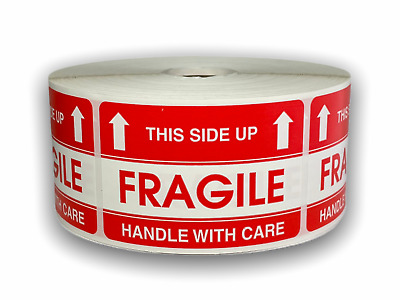 500 Labels 2x3 FRAGILE This Side Up Special Handling Shipping Mailing Stickers