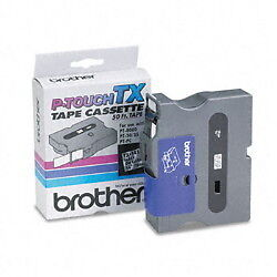 Brother TX1411 3/4 (18mm) Black On Clear p-touch tape for PT400, PT-400