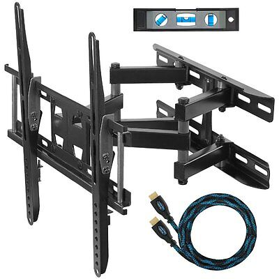 TV Steel Wall Mount Bracket Tilt Swivel + HDMI Cable For Samsung LG 30 - 55 Inch