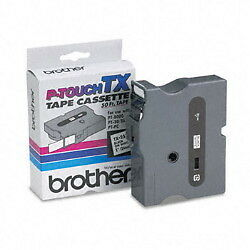 "Brother TX2511 1"" (24mm) Black On White p-touch tape for PT4000XL, PT-4000XL"