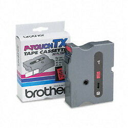 "Brother TX4511 1"" (24mm) Red On Black p-touch tape for PT4000XL, PT-4000XL"