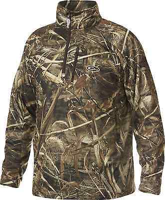 Drake Waterfowl Camouflage Breathlite Realtree Max-5 1/4 Zip Pullover XL New!