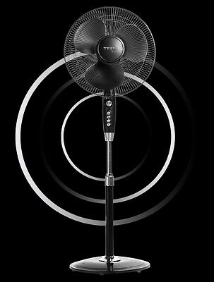 3 Speed Oscillating Extendable Free Standing Tower Pedestal Cooling Fan + Timer