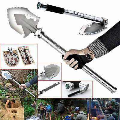 Outdoor MultiFunction Emergency Survival Camping And Hiking Shovel Gear Tool