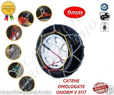 Catene neve a rombo 9mm Omologate ONORM V5117 Fiat 500/500C gomme 175/65R14