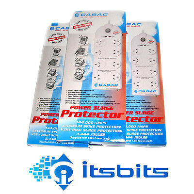 THREE (3x) CABAC HYPERTEC 8 WAY HIGH  SPIKE SURGE PROTECTION POWER BOARD + PHONE