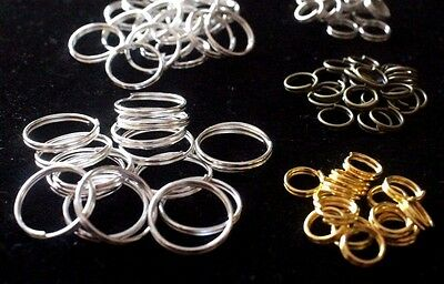 50pcs 4 6 7 8 12mm Split Rings Gold Silver Plated Key Jump Ring Jewelry findings