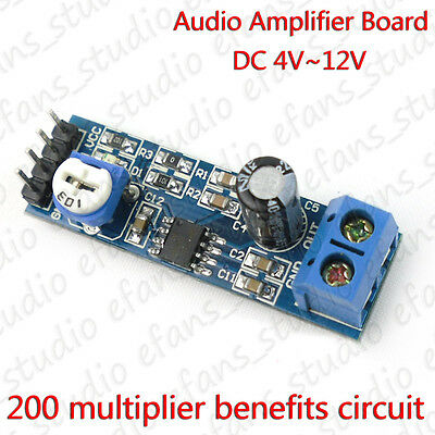 LM386 DC 5V 6V 12V Mini Micro Audio Amplifier Board Amp Module HIFI