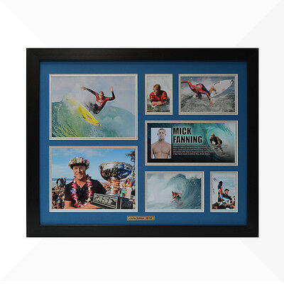 Mick Fanning Signed & Framed Memorabilia - Blue/Silver - Limited Edition