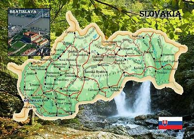 Slovakia Country Map New Postcard