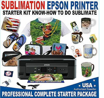 Transfer Sublimation Kit For T-Shirt Hat Mug Starter Kit Plus Epson Printer
