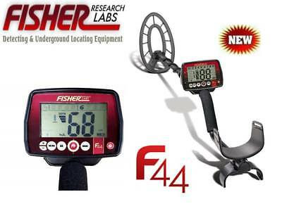 Fisher F44 Metal Detector - Fishers Newest With High End Features - Ships Free