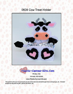 Bull//Cow//Rodeo Treat Holder-Plastic Canvas Pattern or Kit