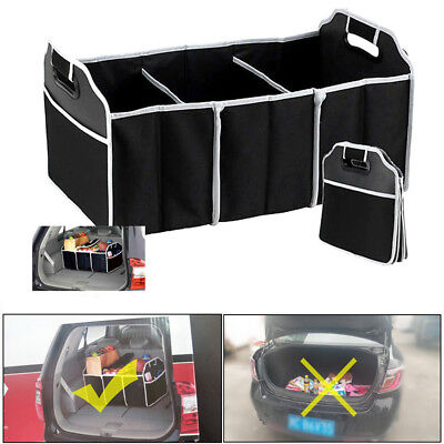 2-in-1 Collapsible Heavy Duty Car Boot Organiser Foldable Shopping Tidy Storage