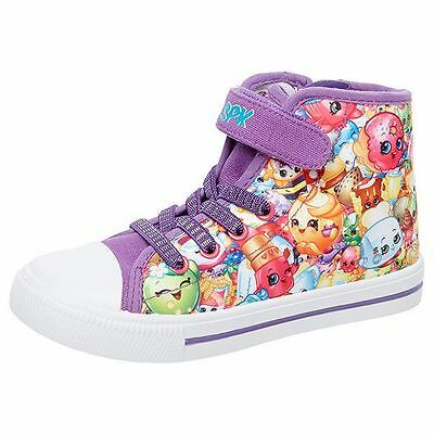 NEW Shopkins Junior Printed High Top Shoes Kids