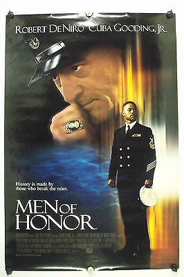 "MEN of HONOR- Robert De Niro - Original Movie Poster - 2000 Rolled DS ""A"" C8"