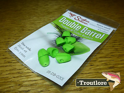 Flymen Green X-Small Surface Seducer Foam Popper #8 - New Fly Tying Materials