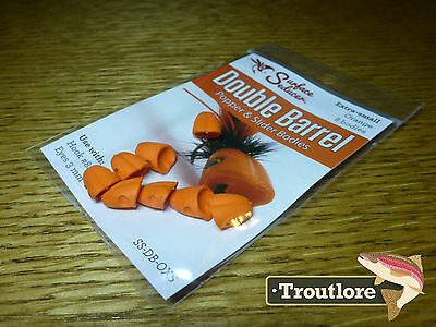 Flymen Orange X-Small Surface Seducer Foam Popper #8 - New Fly Tying Materials