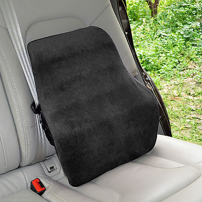 Large Memory Foam Car Seat Cushion Travel Home Office Chair Back Lumbar Support