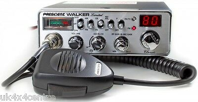 PRESIDENT WALKER Classic CB Radio Chrome front Nostalgic Look UK40 EU AM FM