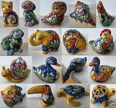 Animaletti Decorati A Mano In Ceramica Di Caltagirone