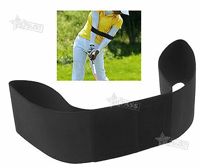 Golf Swing Power Band Training Aid Training Straight Practice Elbow Brace