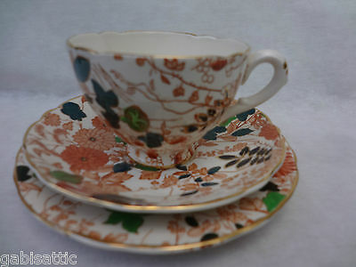 Royal Cauldon Bittersweet Pattern No X2500 Trio - Tea Cup Saucer & Plate