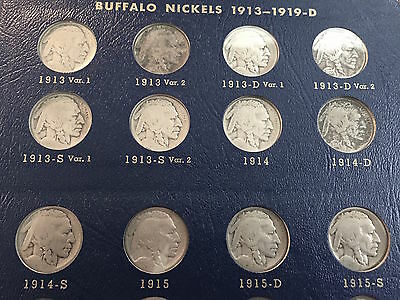 1913 to 1938 Complete Nickel Buffalo Set All ( 64 ) coins *